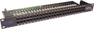 Патч-панель предназначена для организации телефонного поля коммутации с выс